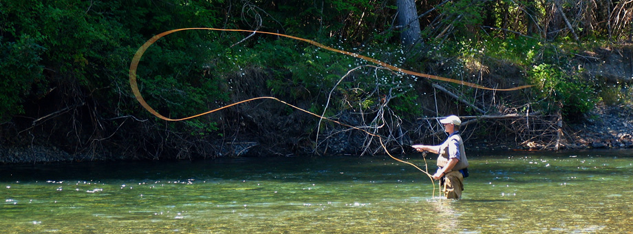 Fly fishing with a friend…