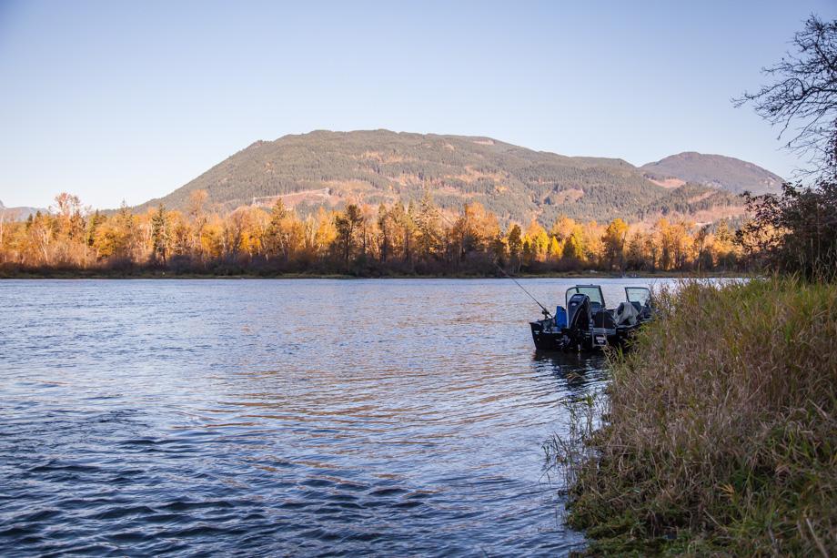 4871HL J Simms Boat Anchored Harrison River